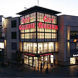 400m Ladenstrasse mit Glaskuppel City Galerie, Siegen
